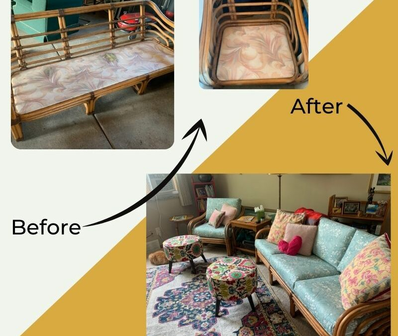 From Curbside Find to Hip Living Room Couch